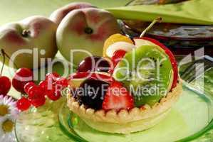Tortelett mit Früchten