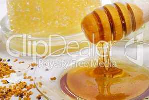 Blütenpollen und Honig