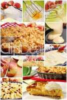 Collage Apfelkuchen
