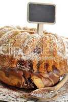 Rührkuchen mit Preistafel