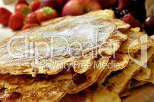 Pfannkuchen gestapelt