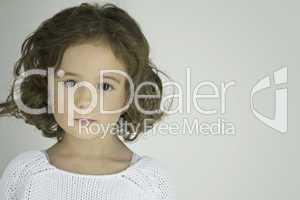 closeup view of a beautiful little girl