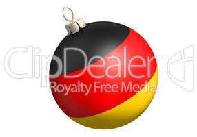 christbaumkugel deutschlandflagge