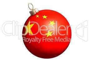 christbaumkugel mit chinesischer flagge