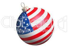 christbaumkugel mit usa flagge