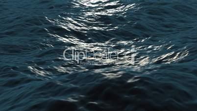 Seamless loop of waves in ocean
