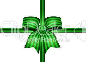 dunkelngrüne schleife mit grünen streifen