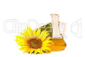 Sunflowers and oil