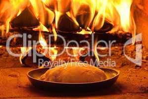 Traditional baking bread
