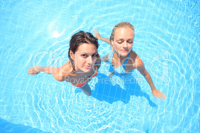 Two models in a pool