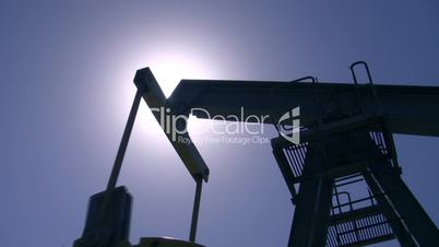 Silhouette of an oil pump