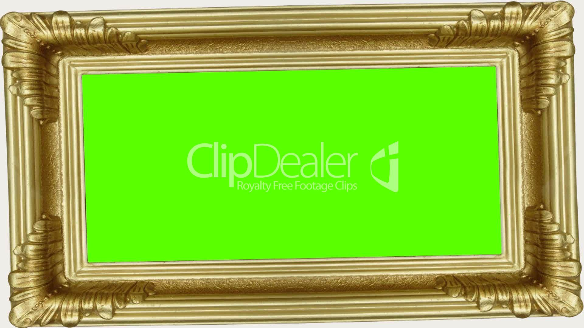 Gold frame with green screen: Lizenzfreie Stock Videos und Clips
