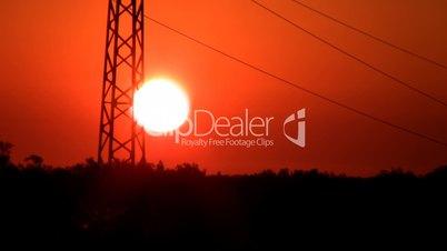 Power Lines on sunrise II.