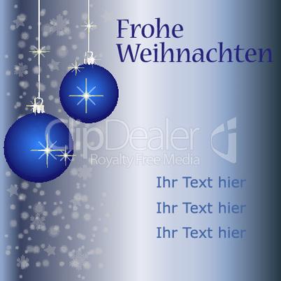 Weihnachtskarte - fügen sie ihren Text ein