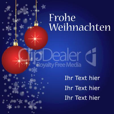 vektor weihnachtskarte - platz für ihren text