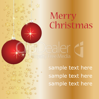 weihnachtskarte - vektor - ihr text hier