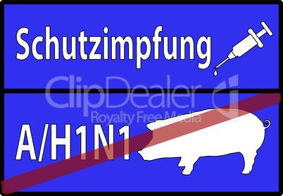 vektor H1N1 Schweinegrippe Warnung