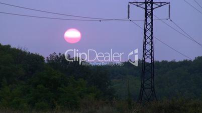 Power Lines on sunrise 1.