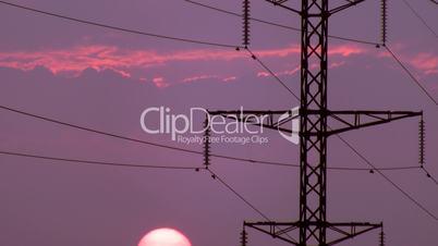 Power Lines on sunrise 2.