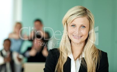 Businesswoman in an office
