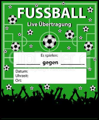 illustration fussball live übertragung