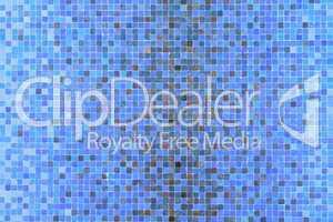 Blue mosaic squares