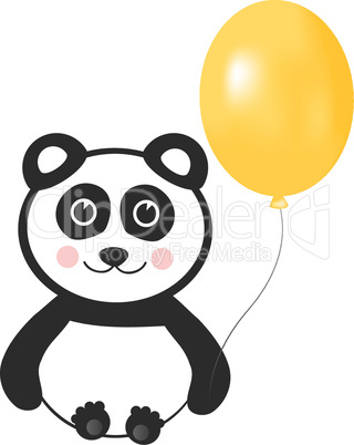 Happy Panda with Balloon