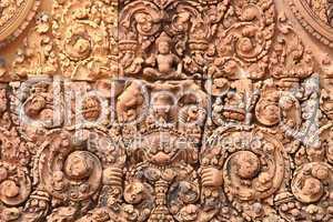 Relief im Tempel Banteay Srei