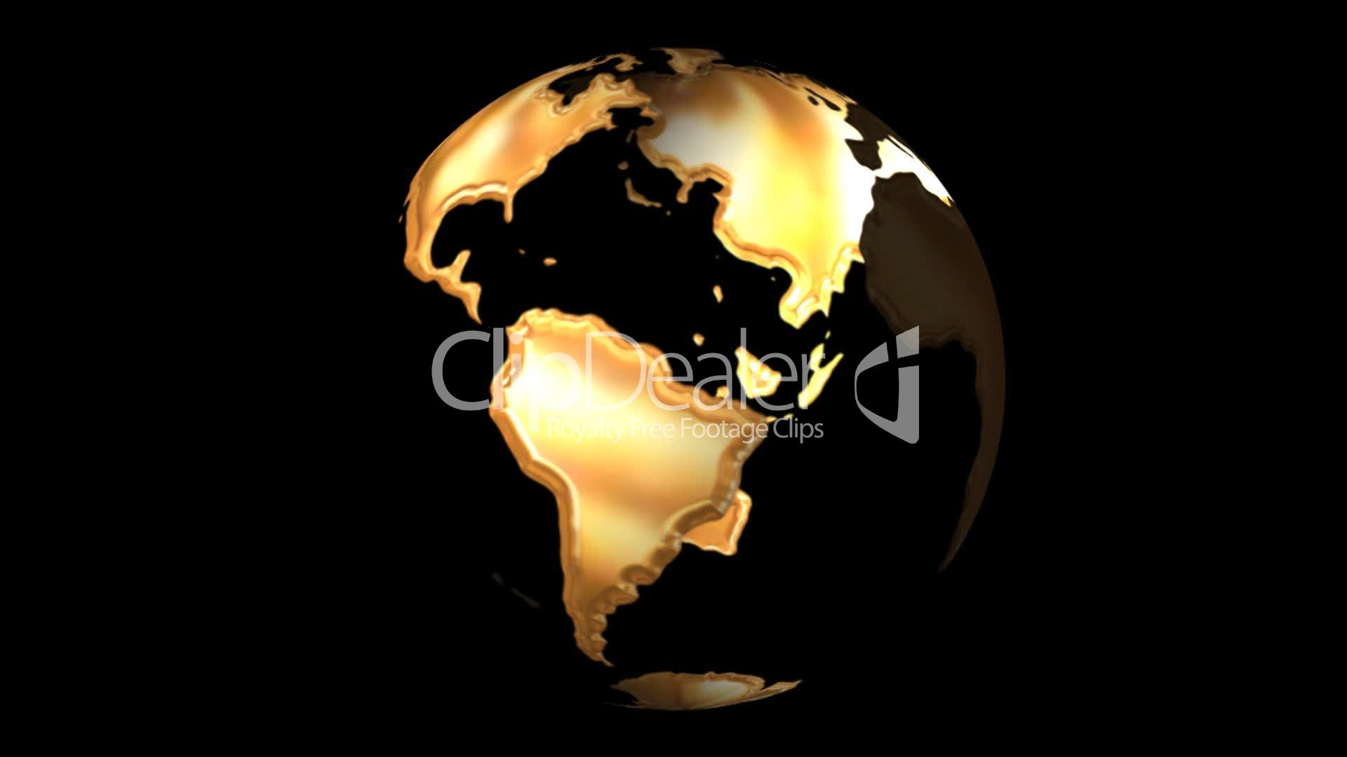 Golden earth: Royalty-free video and stock footage