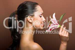 Beautyfoto mit Blüte