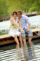 Pärchen am See