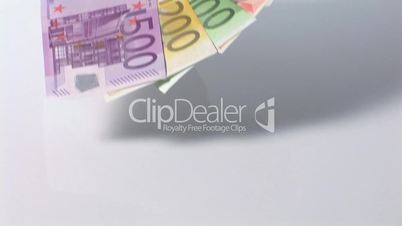 Fächer aus Geldscheinen - Wegfahrt
