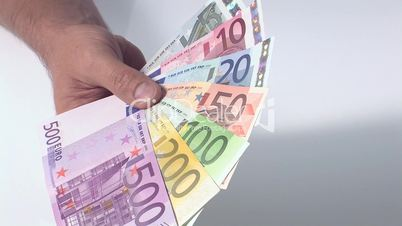 Fächer aus Geldscheinen