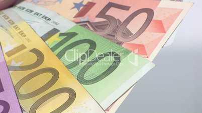 Fächer aus Geldscheinen - nah