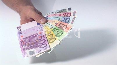Fächer aus Geldscheinen - Schwenk nach rechts
