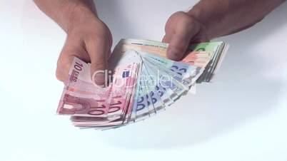 Geldscheine zählen