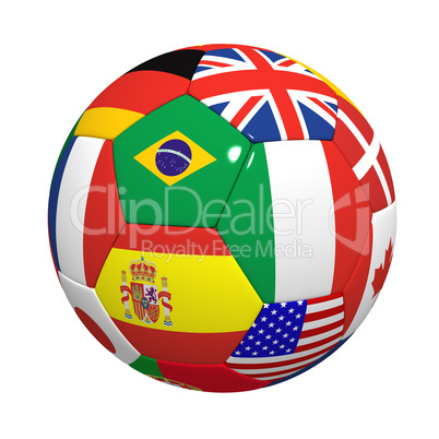 Football with flags