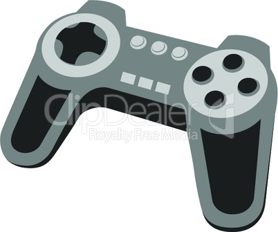 Vector illustration - joystick for video games.