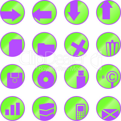 Vector web icons (buttons)