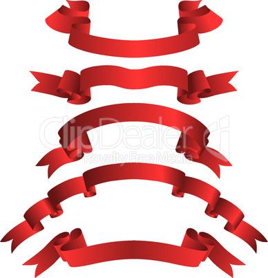 rote Bänder