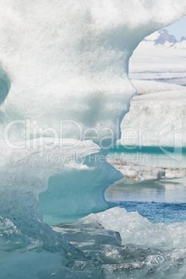 Melting Icebergs on the Lagoon, Jokulsarlon, Iceland