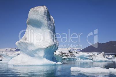 Icebergs on the Lagoon, Jokulsarlon, Iceland