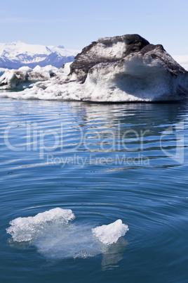 Melting Glacial Icebergs in the Lagoon, Jokulsarlon, Iceland
