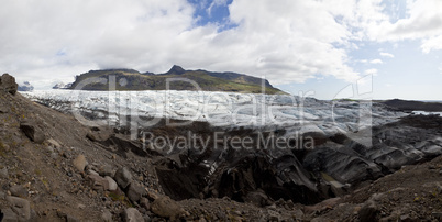 Panoramic Photograph of the Vatnajokull Glacier, Iceland