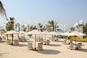 Beach at luxurious hotel, Dubai, UAE