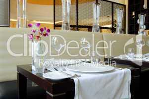 Restaurant in luxury hotel, Dubai, UAE