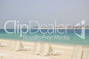 Beach of Atlantis the Palm hotel, Dubai, UAE