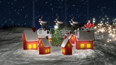 Santa Claus Circling Village HD1080