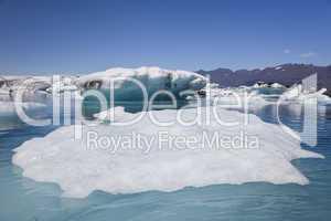 Icebergs Floating