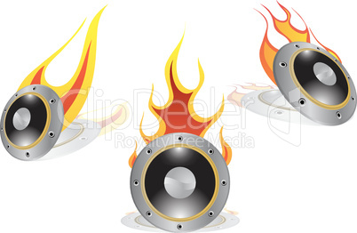 hot loudspeakers